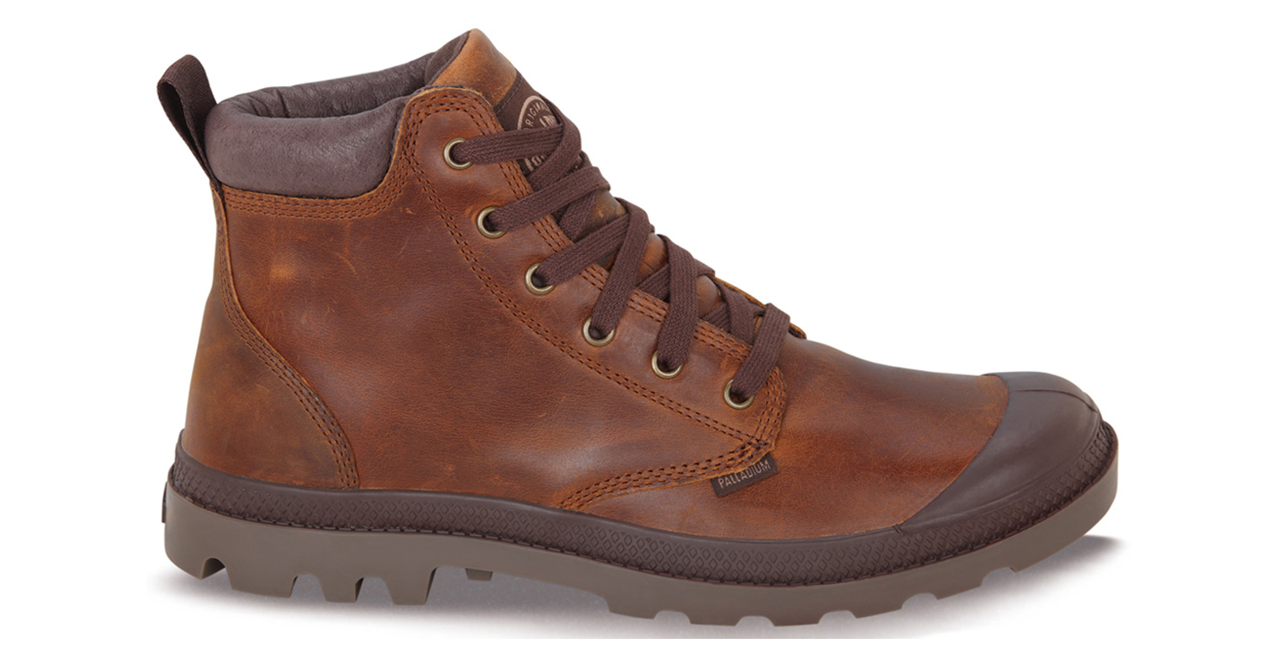 Palladium Mens Shoes Pampa Hi Cuff Lea New Leather Lace Up Walking Ankle Boots