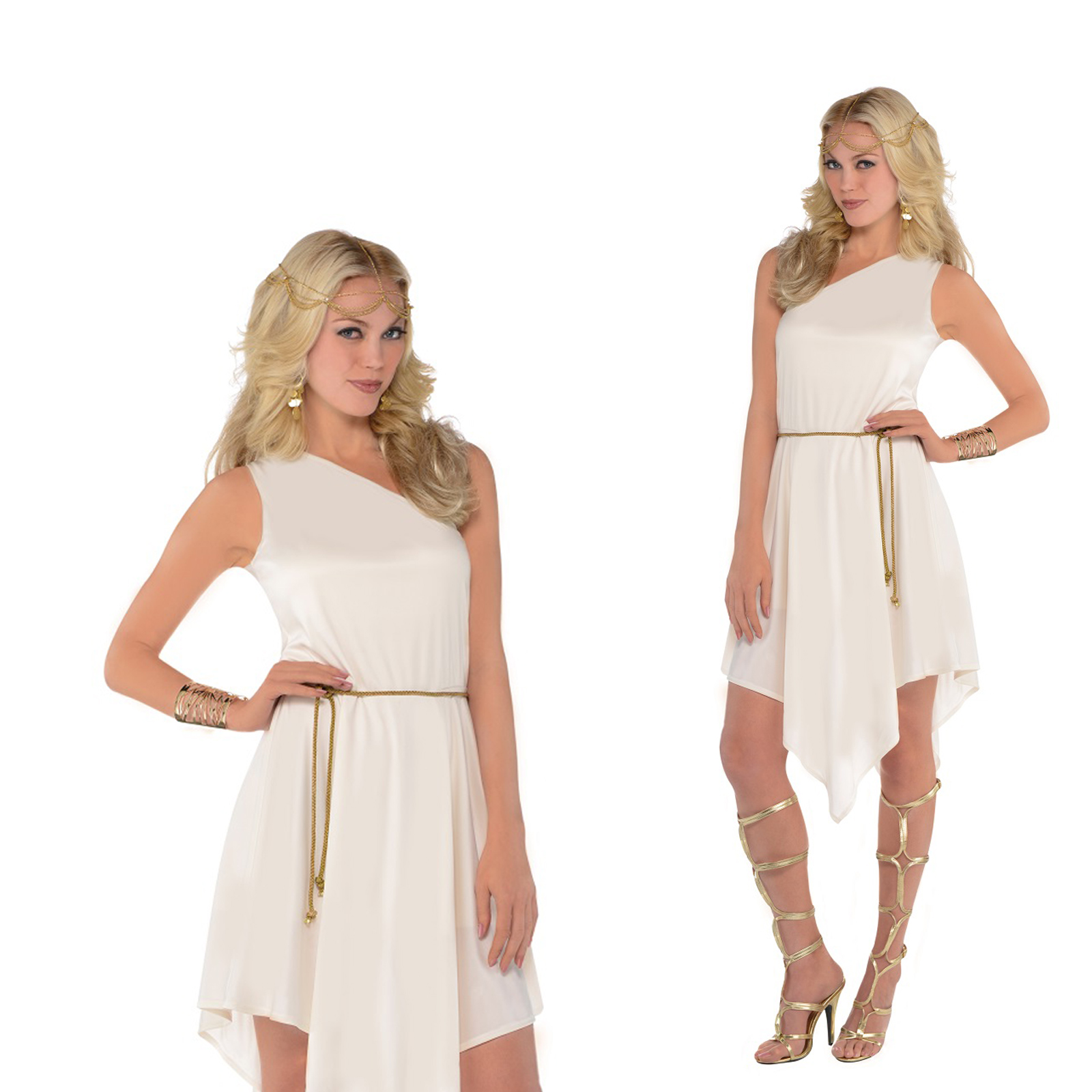 Simple  Size Olympic Goddess Toga Costume  Womens Greek Goddess Costume Ideas