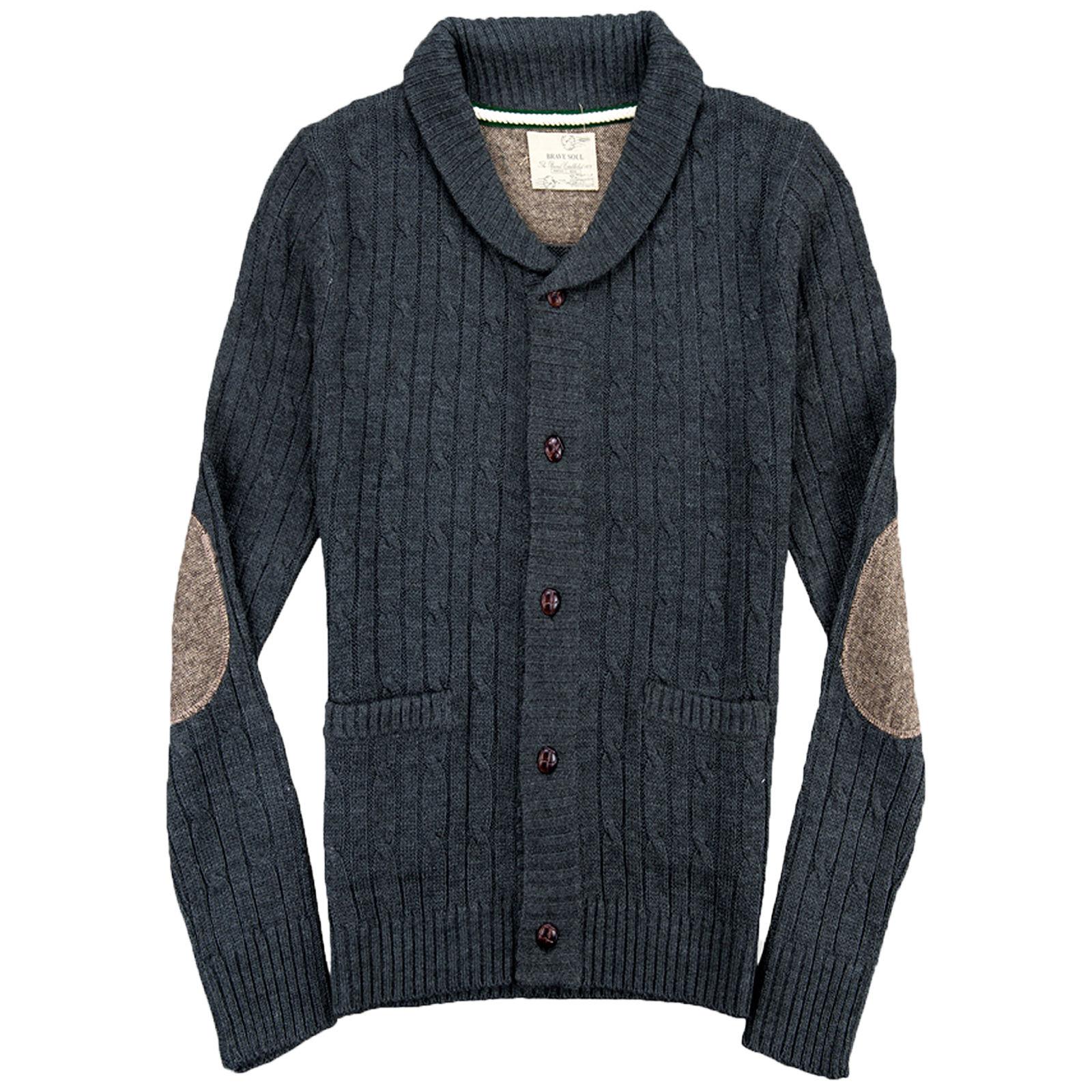 hommes cardigan brave soul neuf tricot grosse maille hiver. Black Bedroom Furniture Sets. Home Design Ideas