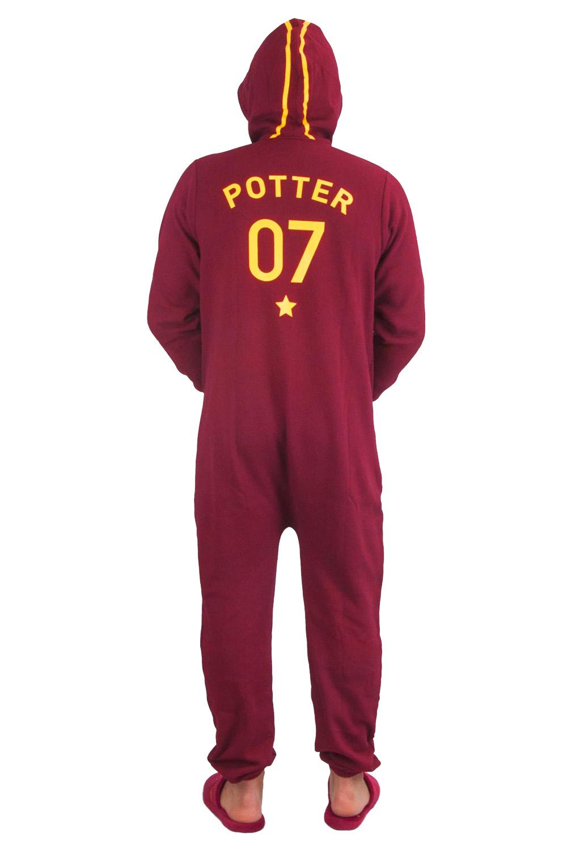 Groovy adulti Ufficiale Harry Potter Quidditch tutto in uno con cappuccio da uomo libero