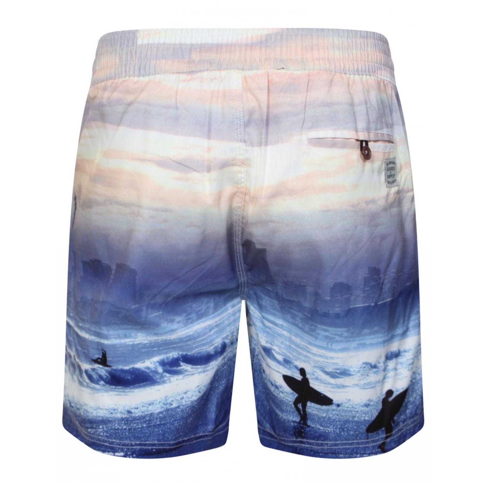 Tokyo Laundry Pantaloncini da uomo eppink Swim Board Costumi da bagno BAULI e Gratuito Infradito