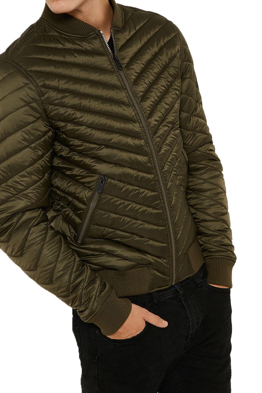 Threadbare Mens Trogan Padded Quilted Coat Designer Zip Up Puffer Jacket