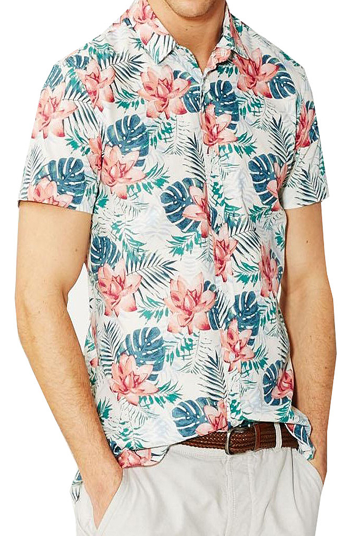 Threadbare cypher or enigma mens shirt new all over for Lsu hawaiian print shirts