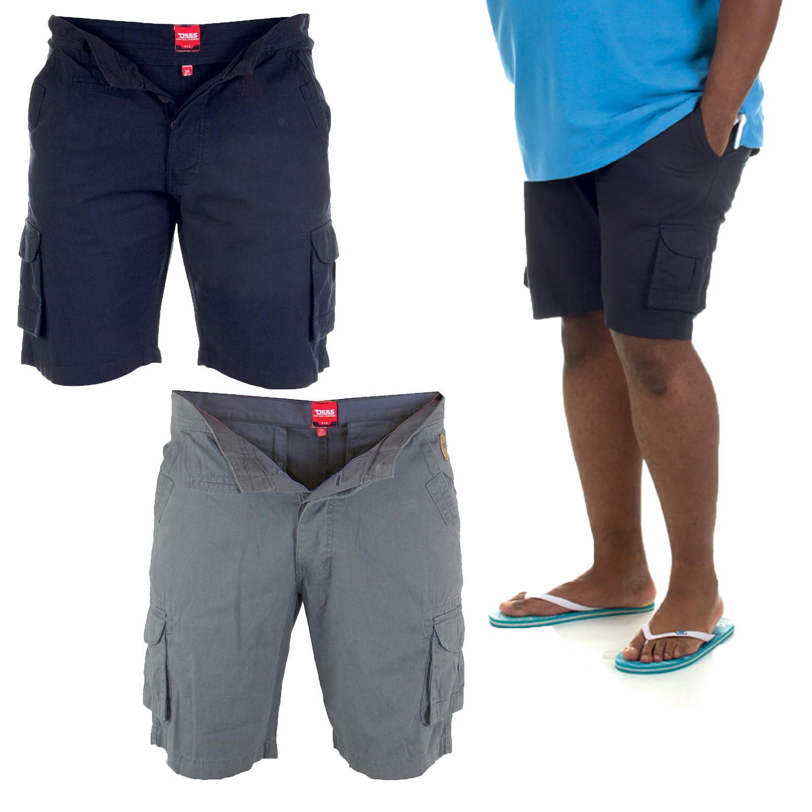 duke d555 big king size mens cargo shorts new cotton