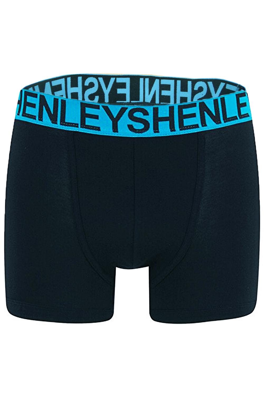 Henleys Mens 3 Pack Boxer Shorts Boxed Designer Underwear Jersey Stretch Trunks