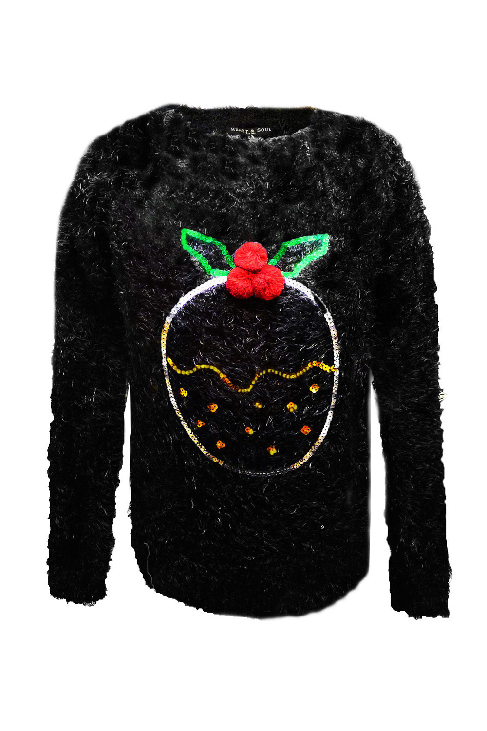 Novelty Christmas Jumpers Knitting Pattern : Womens novelty d christmas jumper ladies mohair eyelash