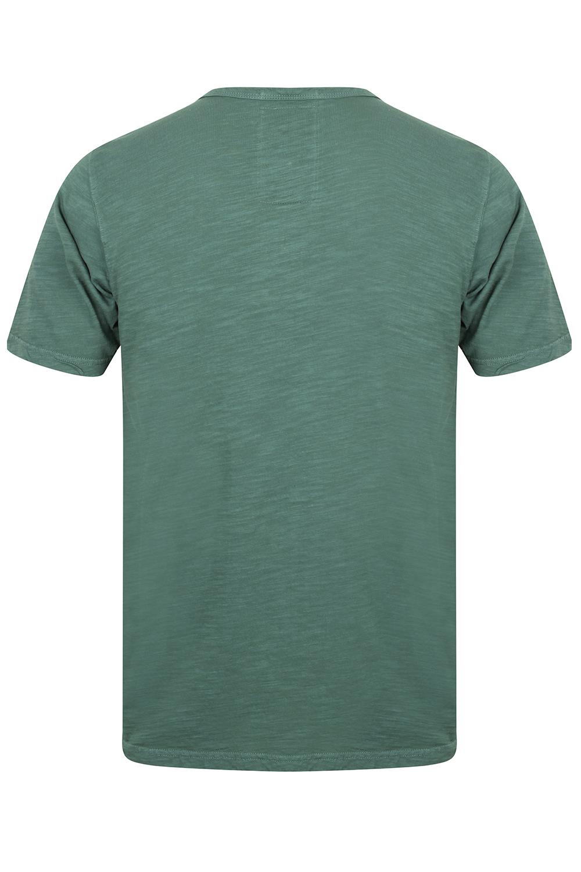 Mens Tokyo Laundry Barry T-Shirt Short Sleeved Cotton Jersey Grandad Neck Top