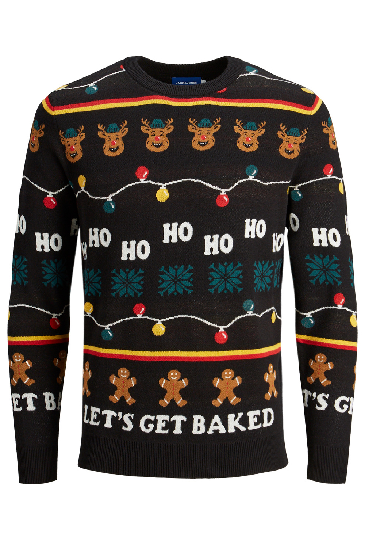 Jack /& Jones Mens Christmas Jumper Festive Knitted Crew Neck Pullover Xmas Knit