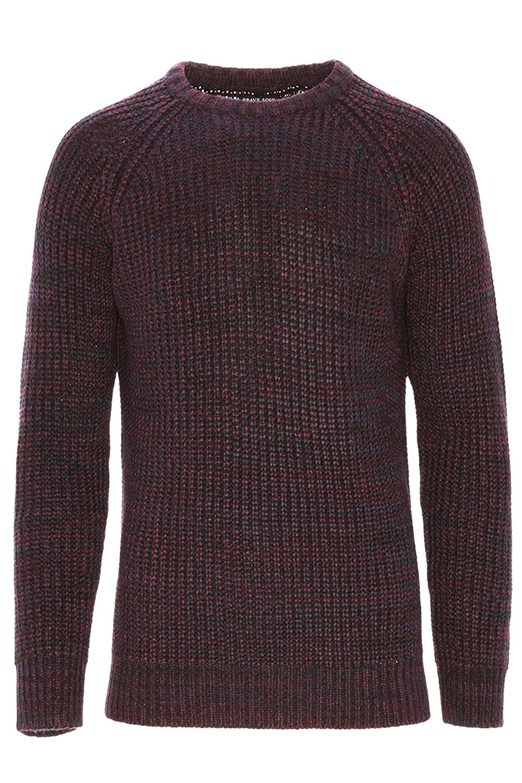 Brave Soul da uomo Maximus Grosso Cavo Lavorato a Maglia Maglione Raglan Sleeve Pullover maglione