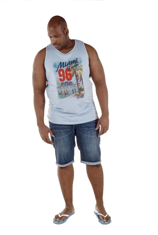 Mens Vest Duke Big Tall King Size New Sleeveless Tee Miami