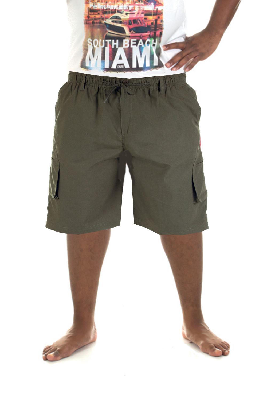 big king size mens elasticated waist cargo shorts duke