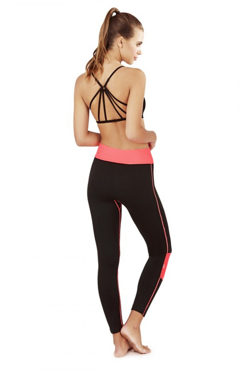 South Beach Womens Spirit Sports Bra Crop Top Ladies Zen Gym Leggings Activewear