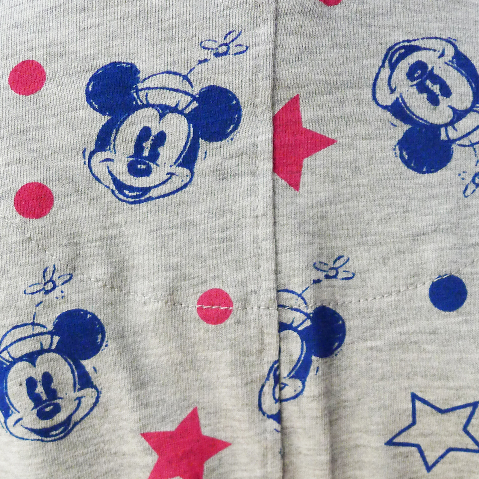 Girls Nifty Kids Disney Minnie Mouse Grey All In One Sleepsuit