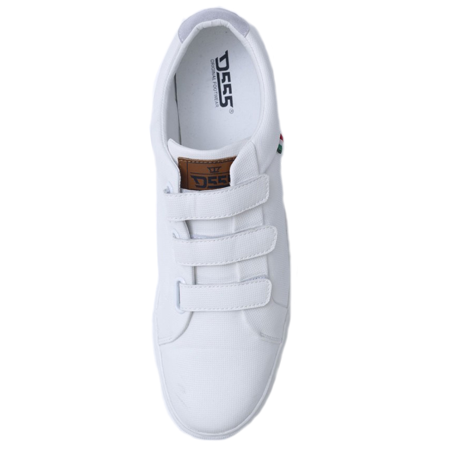 Duke D555 Mens Big King Size Delaware Shoes Touch Fasten PU Leather Trainers