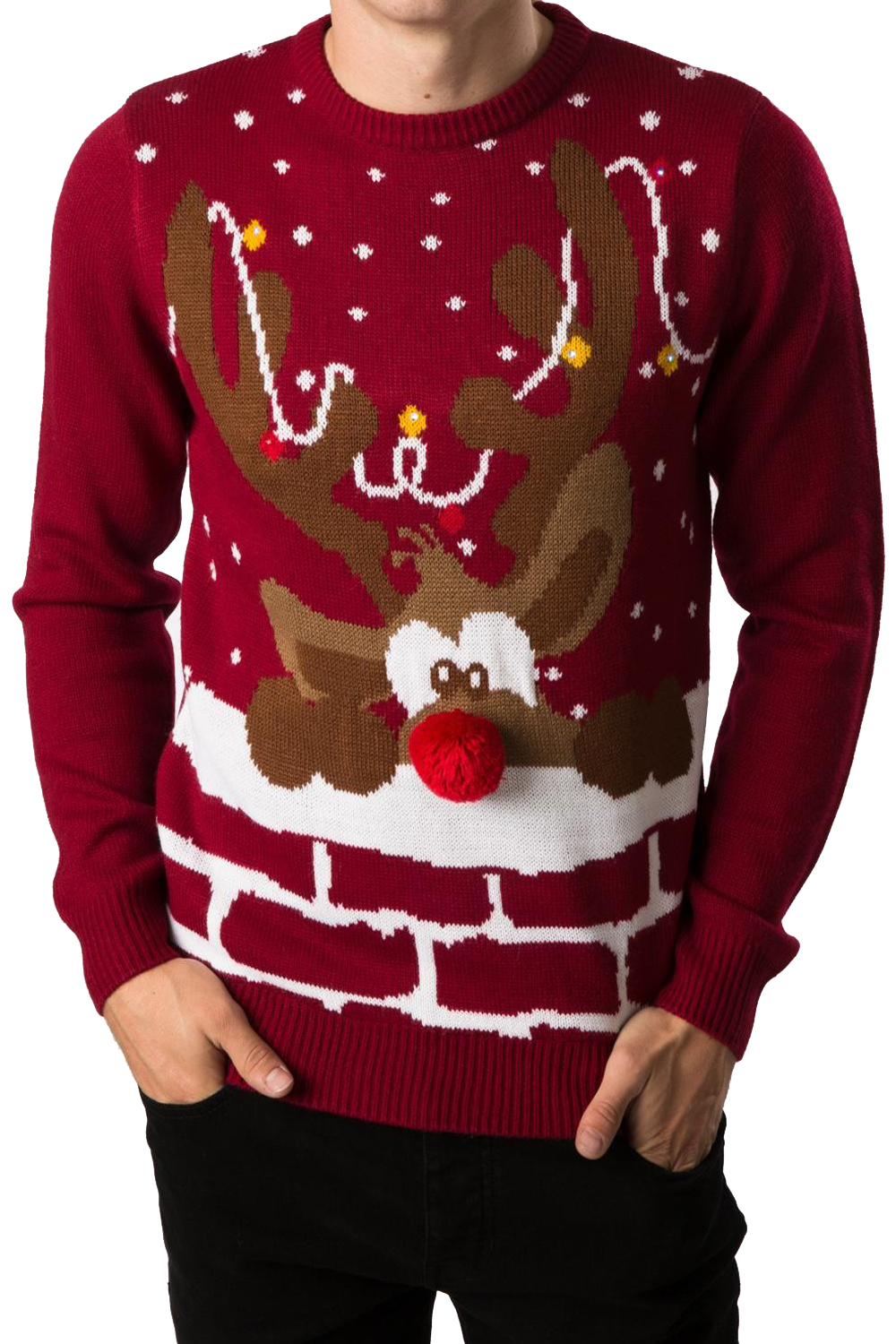 Novelty Christmas Jumpers Knitting Pattern : Threadbare adults d christmas novelty jumper light up led