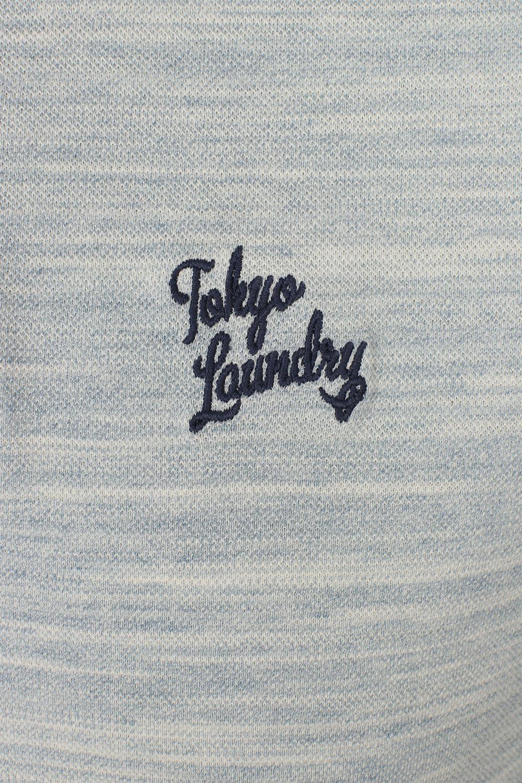 Da Uomo Tokyo Laundry Pique Polo Top manica corta camicie di cotone stretch con colletto