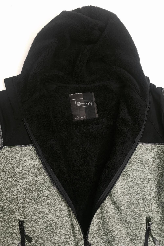 Dissidente Mens Howley Sherpa Foderato in Pile Cerniera Felpa Con Cappuccio Maglione Pullover di marca