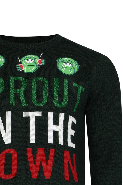 Logoro Da Uomo Sprout in città Festive Christmas Jumper Novità Natale Maglione