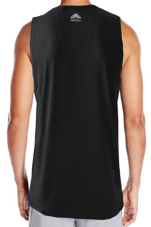 Slazenger Elite Mens Gym Vest New Sports Sleeveless Tennis Running Tee Tank Top