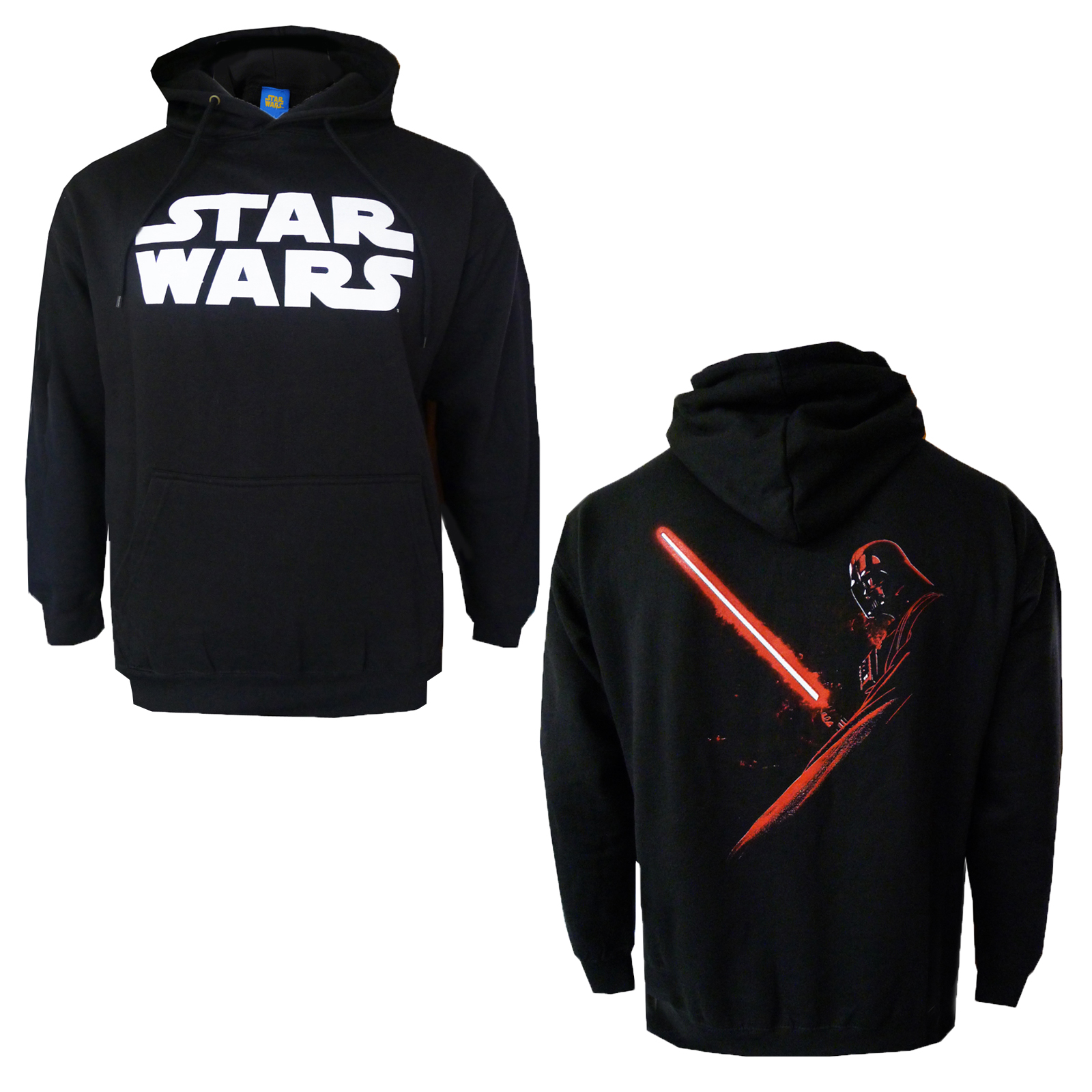 official star wars hoodie new darth vader shadow hoody pullover hooded jumper ebay. Black Bedroom Furniture Sets. Home Design Ideas