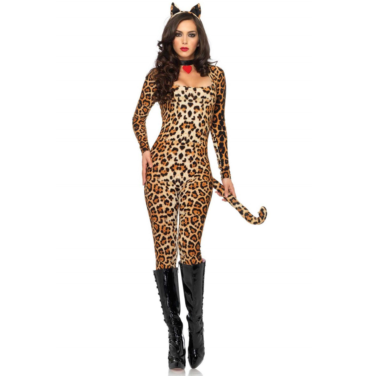 femmes cougar leg avenue sexy enterrement vie jeune fille d guisement halloween ebay. Black Bedroom Furniture Sets. Home Design Ideas