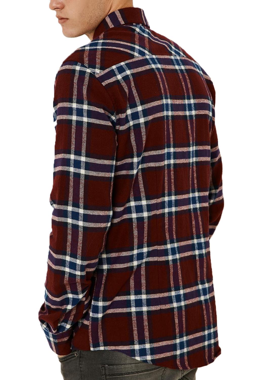 Threadbare Shawshank Mens Longsleeve New Classic Lumberjack Checked Cotton Shirt
