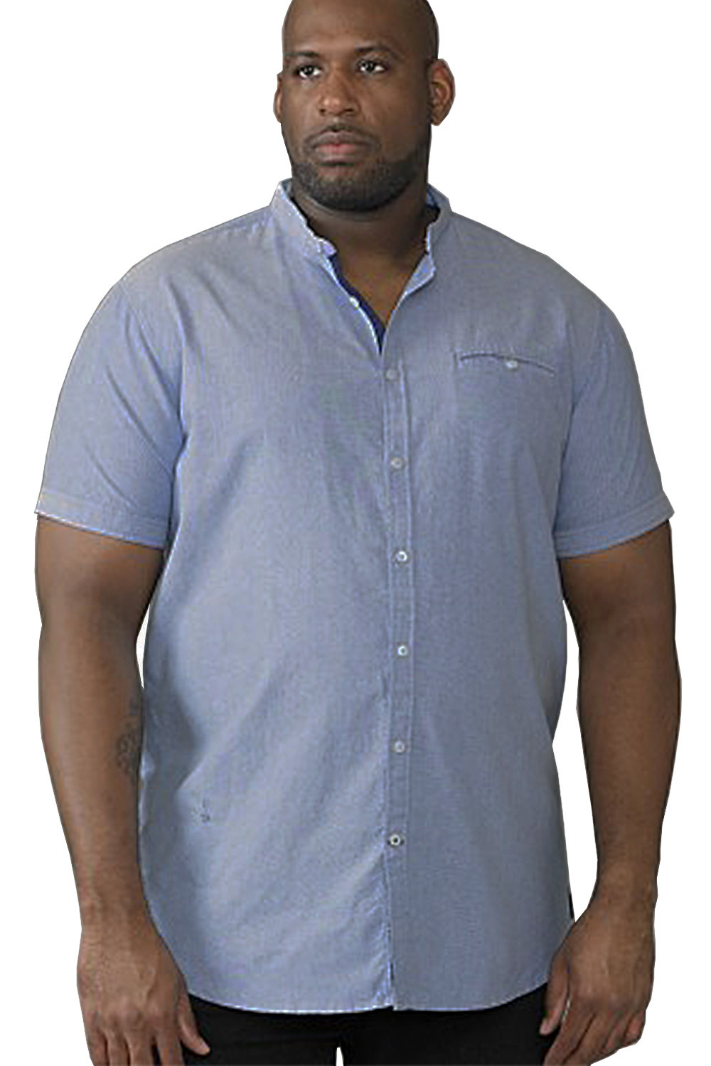 DUKE D555 da uomo Big King Size Dwight Cotone Casual Estate Camicie a maniche corte