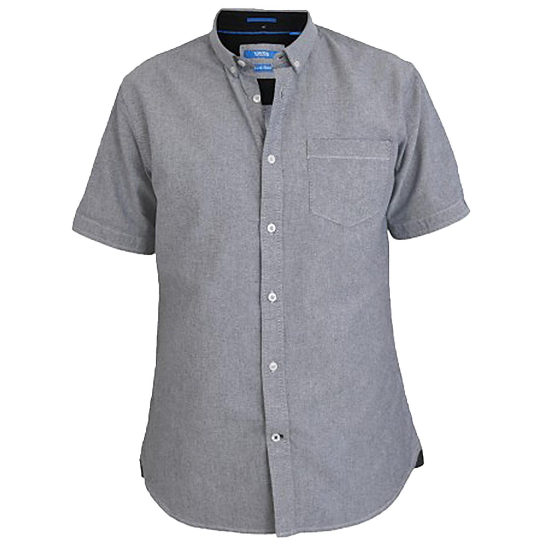 Duke D555 Mens Big Tall King Size Shirts Cotton Casual Summer Short Sleeved Tops