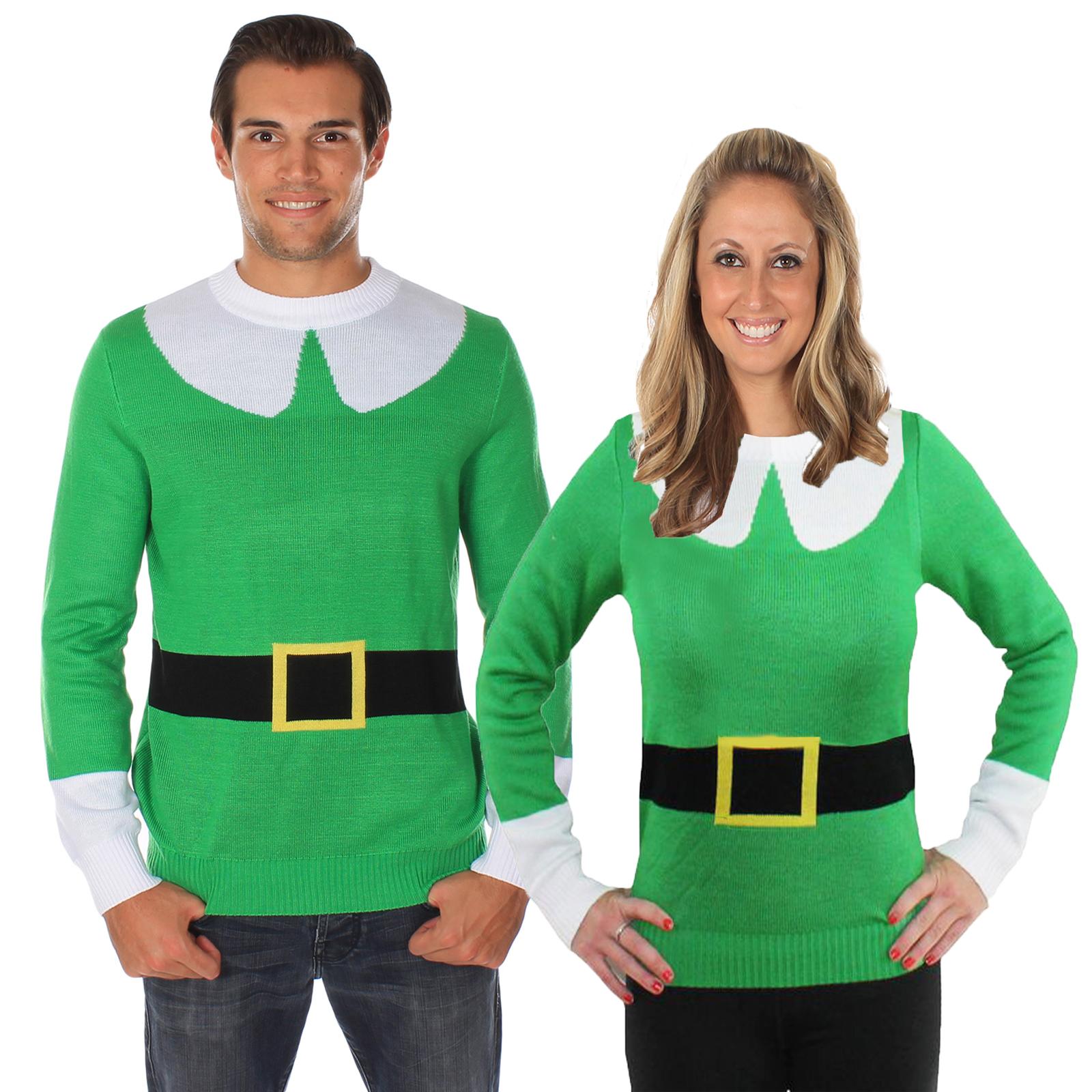 Tipsy Elves Mens Womens Elf Jumper Christmas Sweater Xmas ...