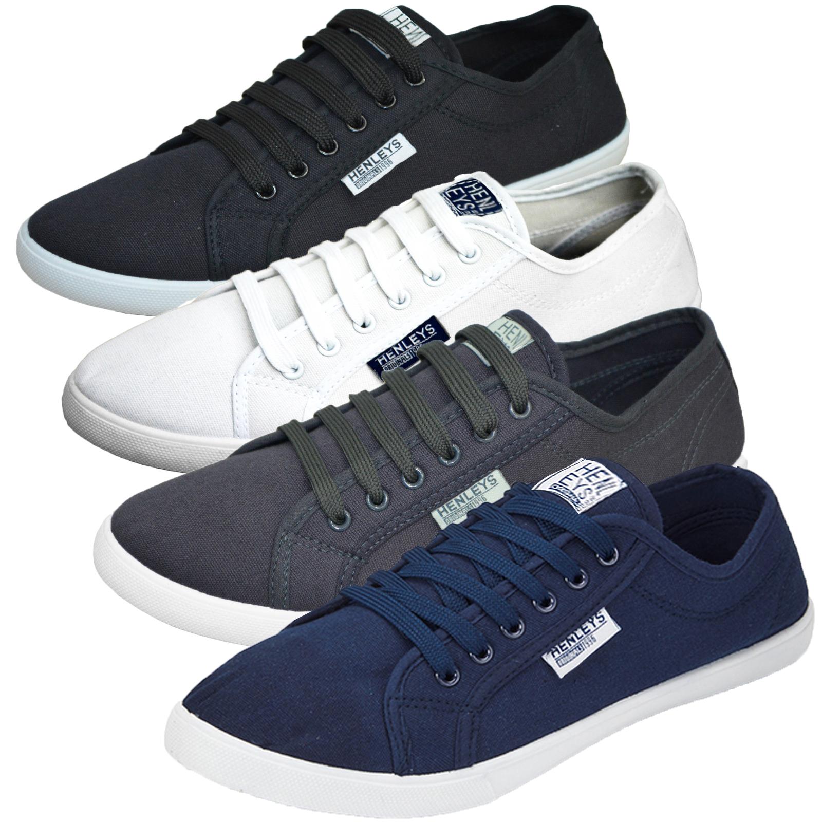 henleys kenyon mens canvas shoes new designer lace up