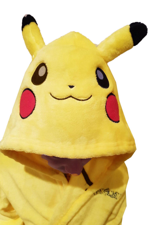 Pokemon Official Licensed Childs Pikachu Luxurious Super Soft Cosplay Nightwear