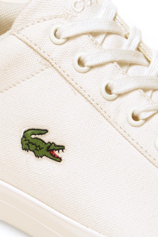 Lacoste Homme Lerond 219 1 CMA Textile Toile White Baskets Casual Classic Shoes