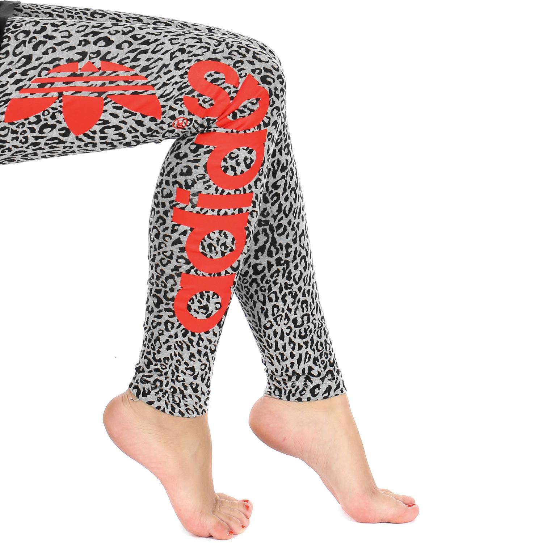 Adidas Originals Womenu0026#39;s Trefoil B-Ball Tight Fashion Leggings Camo Animal Print | eBay