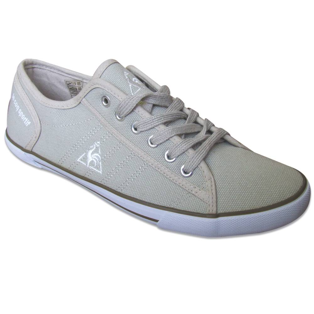 le coq sportif talon men 39 s canvas trainers sneakers shoes plimsoles navy grey ebay. Black Bedroom Furniture Sets. Home Design Ideas