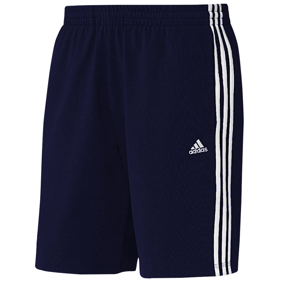 adidas men 39 s 3 stripe climalite cotton training shorts. Black Bedroom Furniture Sets. Home Design Ideas