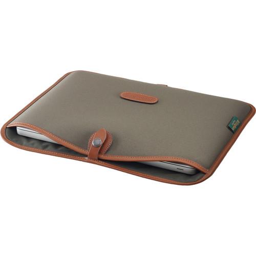 Billingham 13÷ Laptop Slip 521014870  Sage FibreNyte & Tan