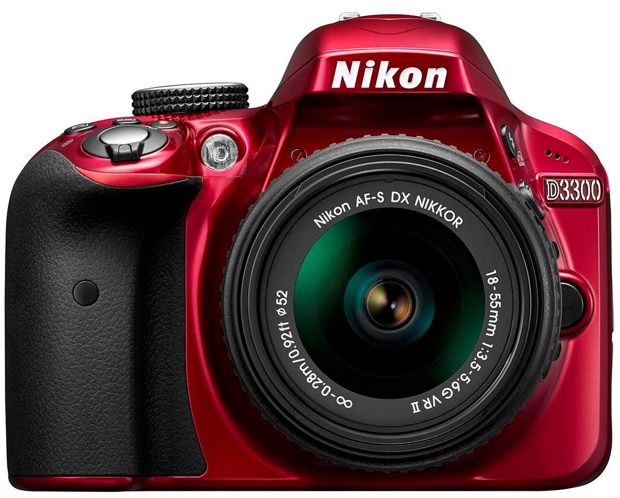 Nikon D3300 DSLR  1855mm VR II Lens  Red