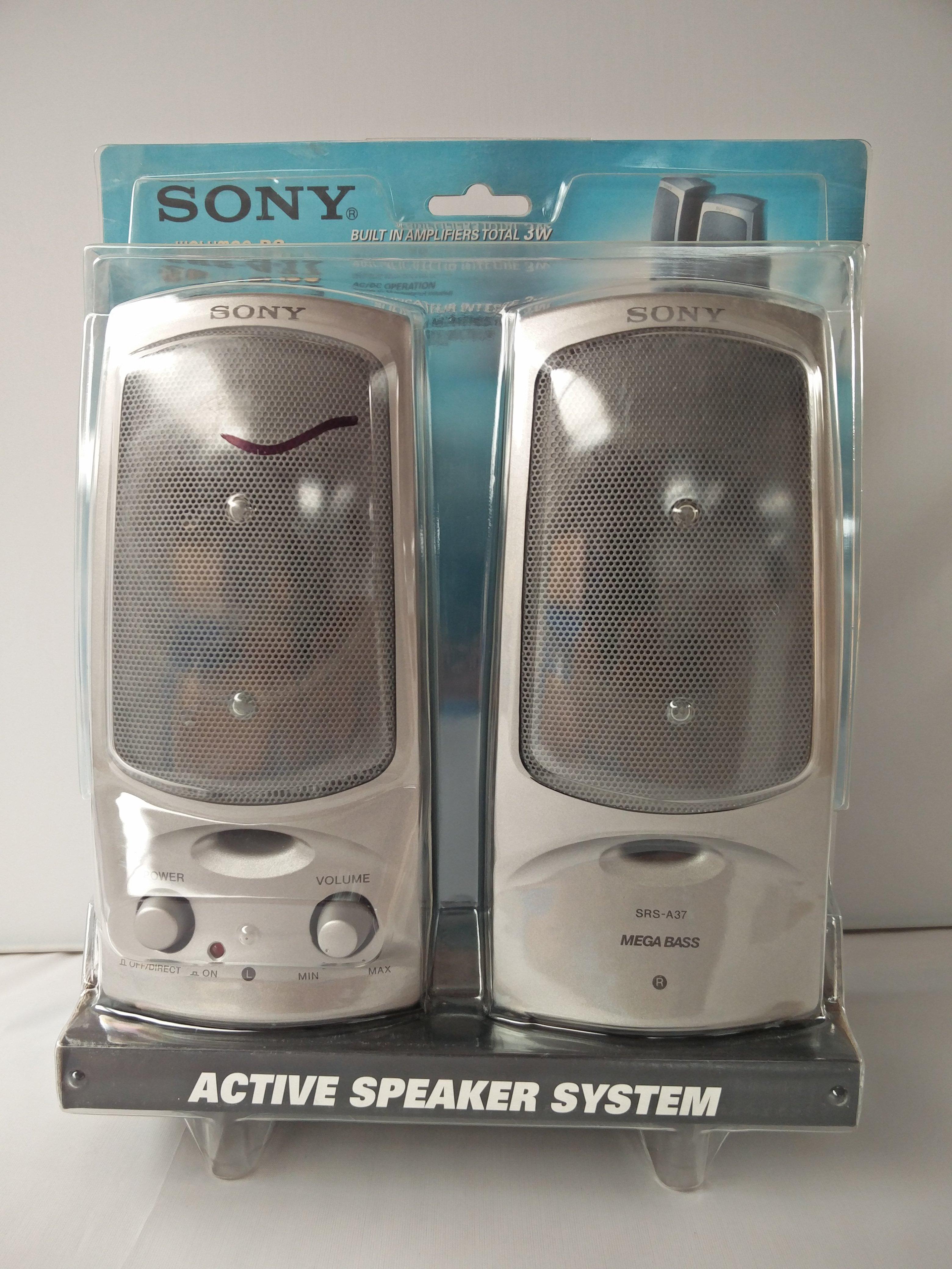 sony active speaker system ebay. Black Bedroom Furniture Sets. Home Design Ideas