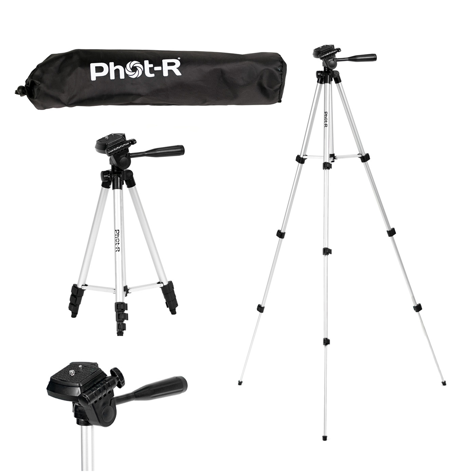 "PhotR 50"" Universal Camera Camcorder Tripod Stand for Canon Nikon Sony Panasonic"