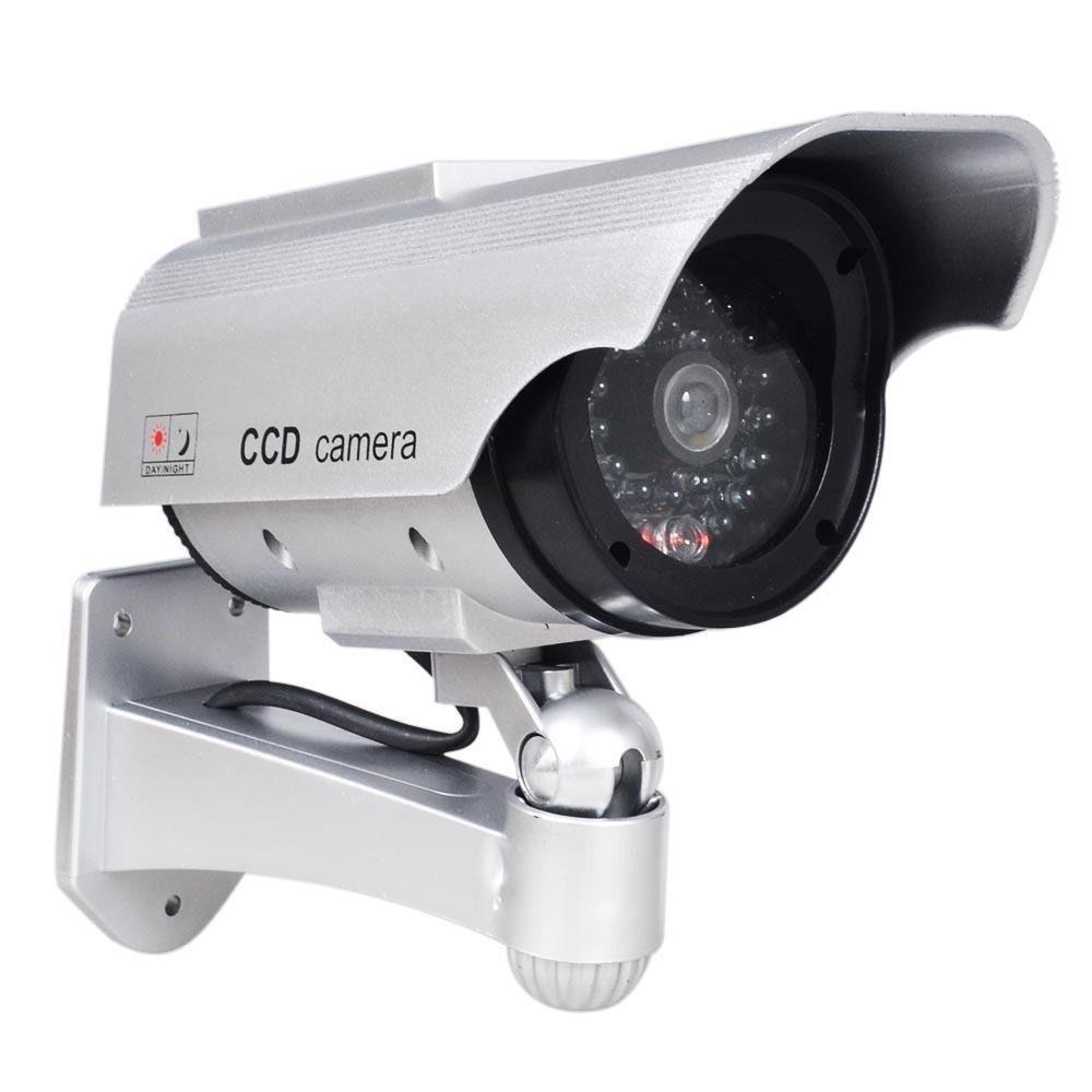phot r solar powered dummy camera cctv security surveillance cam fake ir led ebay. Black Bedroom Furniture Sets. Home Design Ideas