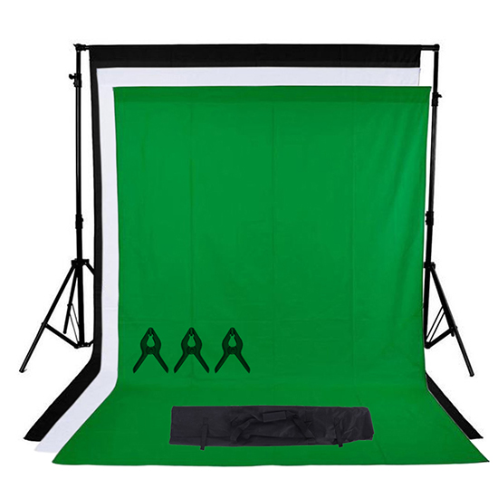 Studio Lighting Kit Amazon: Photo Studio Black White Green Backdrop Chroma Key Screen