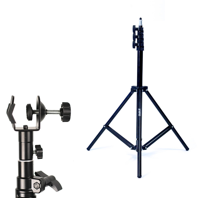 Phot-R 2m Light Stand Photo Studio C Clamp Clip 5/8 Stud