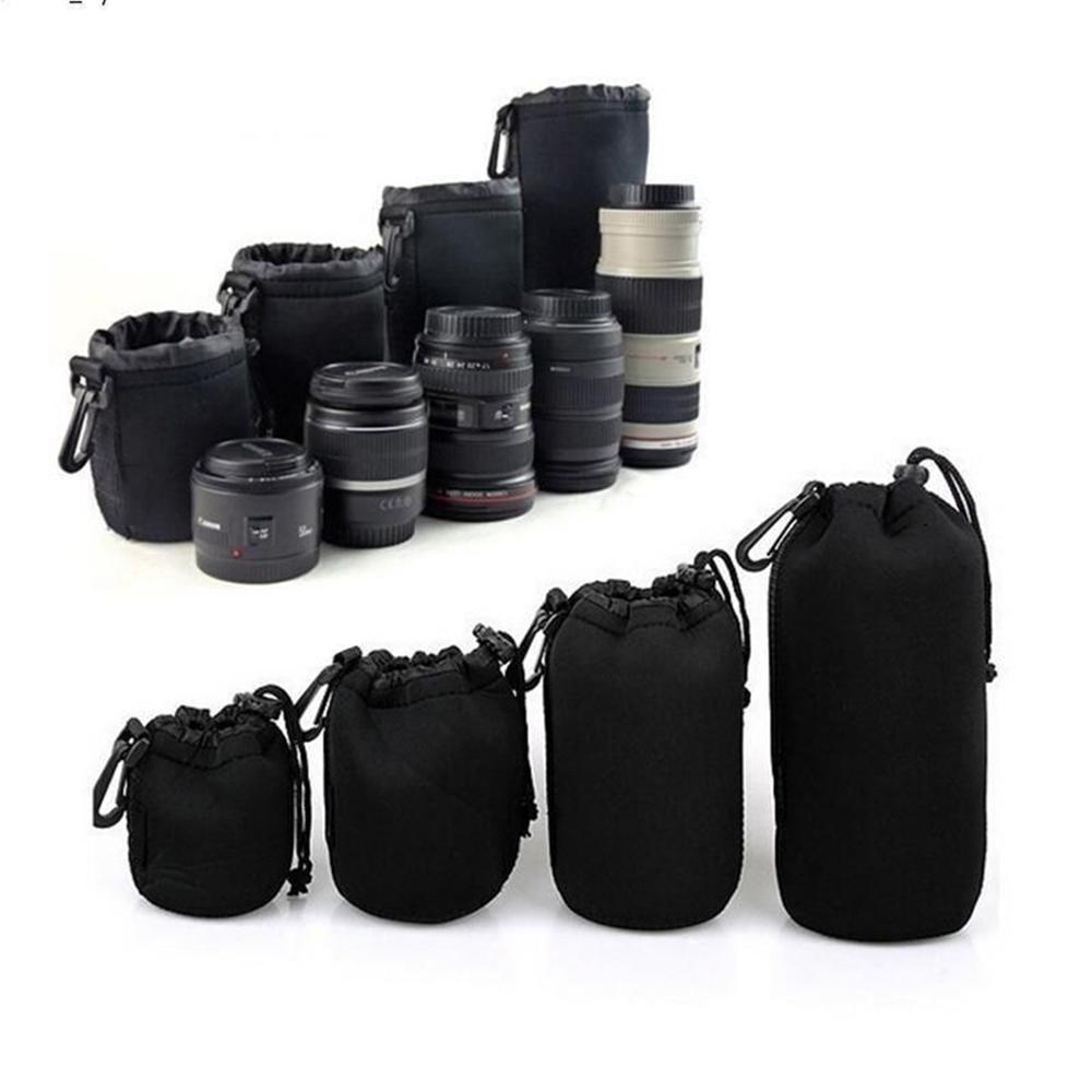 Phot r 4pcs neoprene dslr camera soft lens carry case bag for 2 case kit di storia
