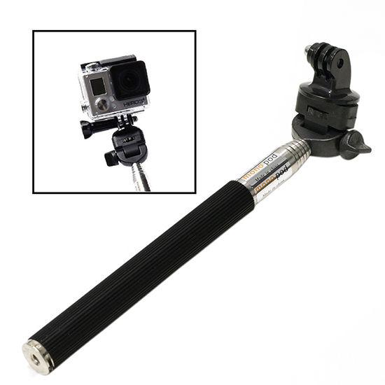 photr monopod hand held extendable selfie stick for gopro hero 2 3 4 5 hd cam. Black Bedroom Furniture Sets. Home Design Ideas