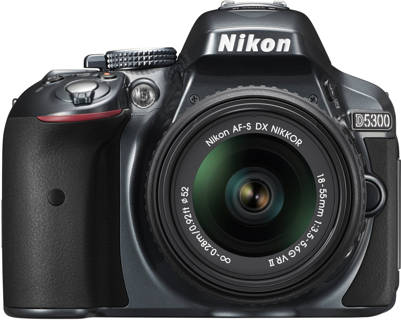 Nikon D5300 DSLR  1855mm VR II  Lens  Grey