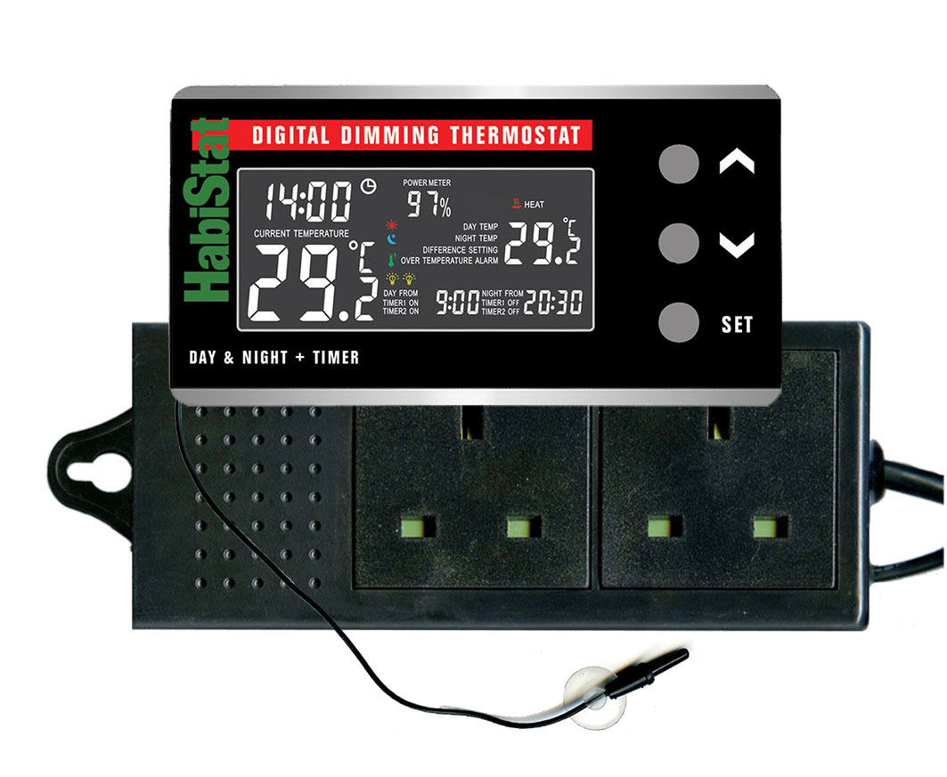 Digital Reptile Thermostat Dimming Temperature Day/Night Options #BE0D12