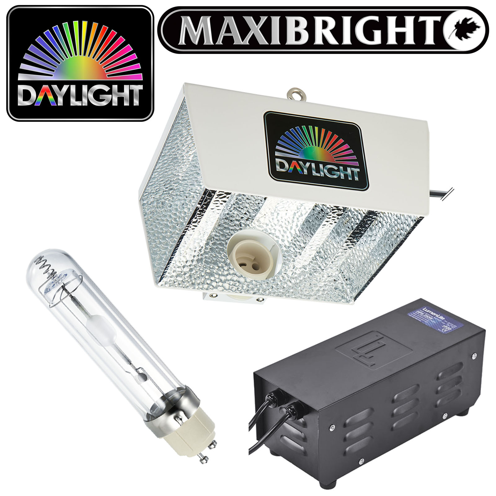 Maxibright Daylight 315W Grow Lighting Kit Reflector Ballast Lamp Combo Setup