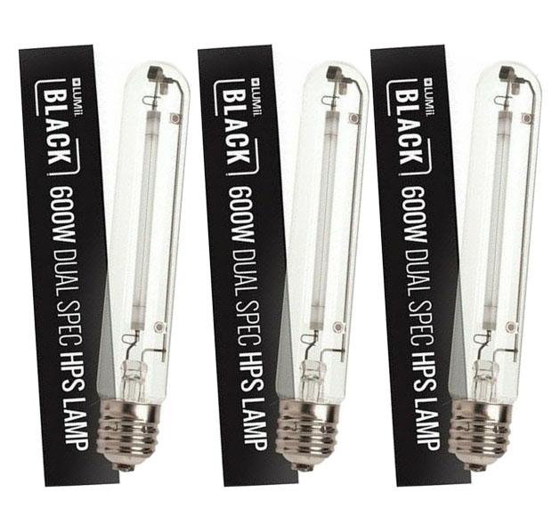 Hydroponics Lumii BLACK HPS Grow Flower Spectrum Grow HPS Lamps Bulbs 600 Watt