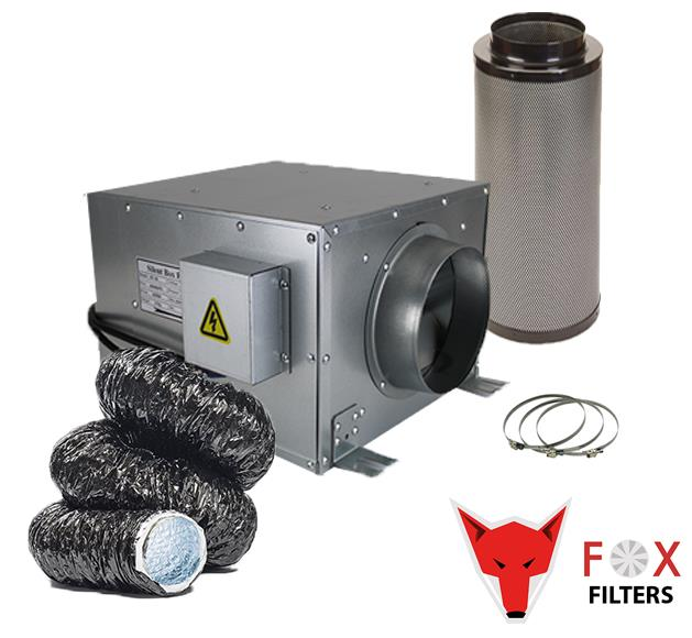 """6/"""" HIGH POWER FAN 6/""""// 300 PREMIUM VIPER CARBON FILTER SILENT DUCT KIT HYDROPONIC"""