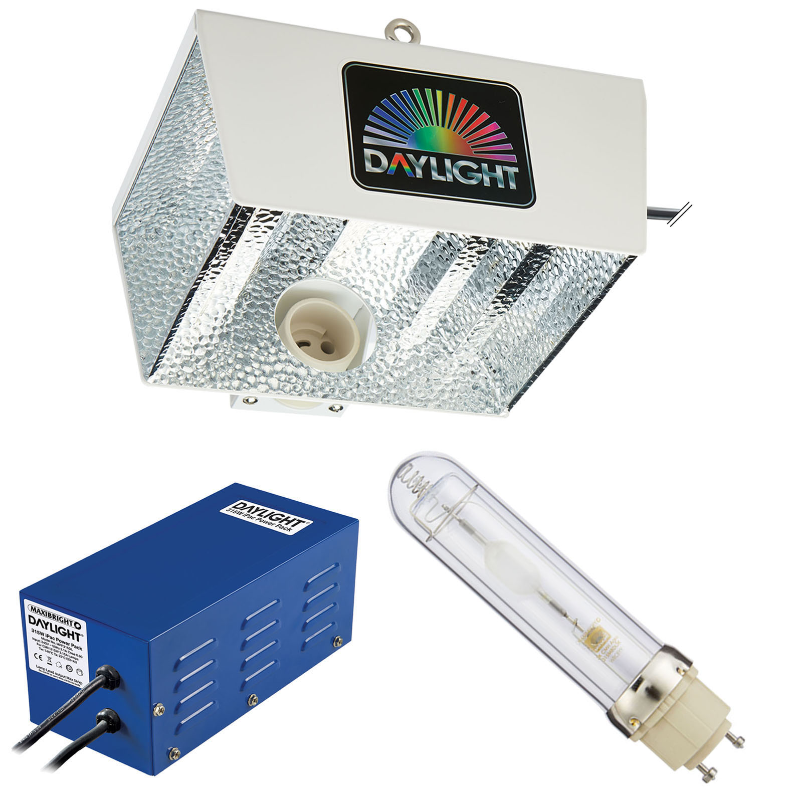MaxiBright Daylight 315W Compact 4K Lamp Bulb Focus Connect Reflector Hydroponic
